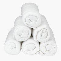 Ζέρσεϊ σεντόνι 160x200x25cm λευκό