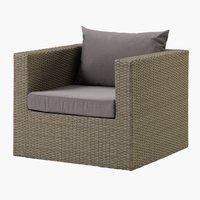 Lounge stolica BASTRUP natur