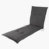 Cushion sunlounger FUGLSAND dark grey