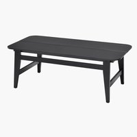 Loungebord BEDER B55xL108 sort