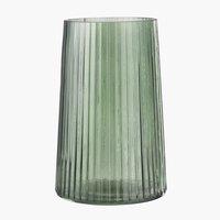 Jarrón ROY Ø13xA20cm cristal verde