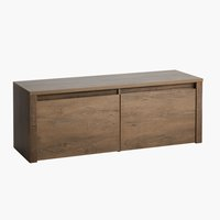 Bench VEDDE 2 drawers oak
