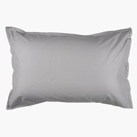 Pillowcase 50x70/75cm l. grey KRONBORG