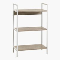 Shelving unit TISTRUP 3 shel. white/oak