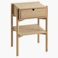 Bedside table DALBY 1 drawer oak