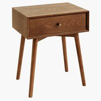 Bedside table HOKKSUND 1 drw brown