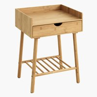 Bedside table VANDSTED 1 drw bamboo