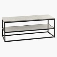TV bench DOKKEDAL concrete/black