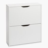 Shoe cabinet IDSKOV 2 comp. white