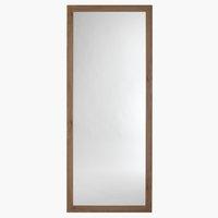 Ogledalo VEDDE 74x180 cm divji hrast