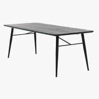 Spisebord RADBY 90x200 svart