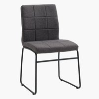 Dining chair HAMMEL siva/crna