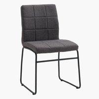 Spisebordsstol HAMMEL grå/sort