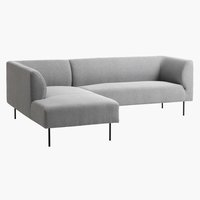 Bank KARE chaise longue l.grijs links