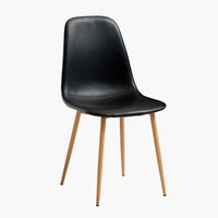 Jedálenská stolička JONSTRUP čierna/dub