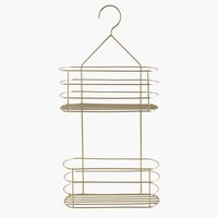 Shelf ALSTER w/2 shelves metal