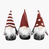 Elfo natalizio BOND H15cm con feltro ass
