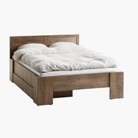 Rama łóżka MANDERUP 140x200 dąb dziki