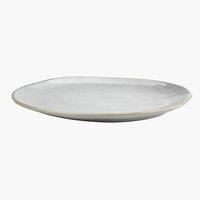 Teller TONE B30xL25xH3cm Steingut grau