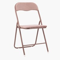 Folding chair VIG velvet rose