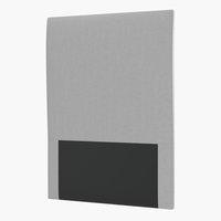 Sänggavel 90x115 H10 slät grå-27