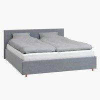 Рамка за легло EGERSUND 140x200 св.сива