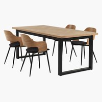 AGERSKOV L200 table + HVIDOVRE chaise