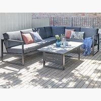 Set muebles jardín VONGE 6 pers negro