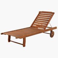Sunlounger DALRIPA W71xL189 hardwood