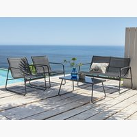 Lounge set YDBY 4 pers. black