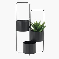 Plant pot holder AND W37xL37xH72 black