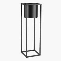 Maceta DETLEF A15xL15xA50 cm negro