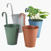 Balcony plant pot BILLE D14xH16cm ass.