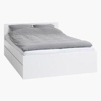 Bedframe LIMFJORDEN 180x200 wit