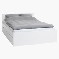 Rama łóżka LIMFJORDEN 160x200 biały