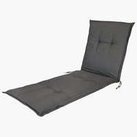 Cushion sunlounger BENNEBO black/grey