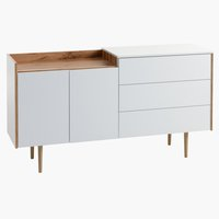 Sideboard AARUP 2 door 3 drw white/oak