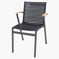 Stacking chair SADBJERG black