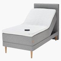 Sänggavel 90 GOLD H60 söm grå