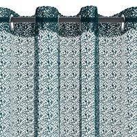 Záclona LURO 1x140x300 pavučina sivomod.