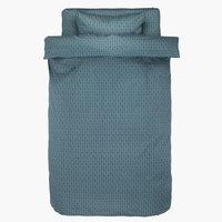 Пост. белье HANNE 1,5СП серый/зеленый