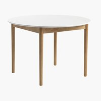 Table MARSTRAND Ø110 a/rallonge blanche