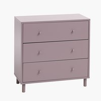 Commode 3 tiroirs TRYSIL rose