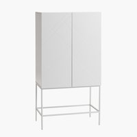 Cabinet LADBY 2 door pattern white