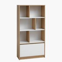 Libreria BILLUND bianco/rovere