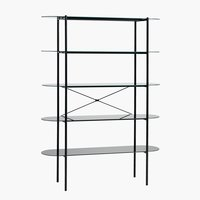 Shelving unit PADBORG 5 shelves black