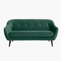 Soffa EGEDAL 2,5-sits sammet grön