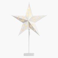 Star GULDTOP W45xL19xH66cm white w/LED
