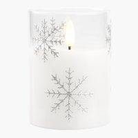 Kynttilä SNEFNUG Ø8xK10cm LEDillä