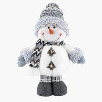Snømann BALDER H40cm hvit